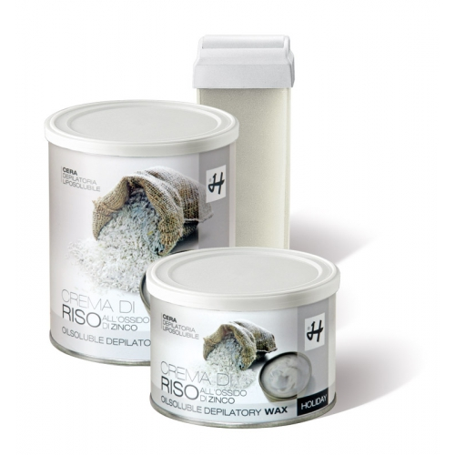 CERA LIPOSOLUBILE CREMA DI RISO 400 GR - HOLIDAY DEPILATORI